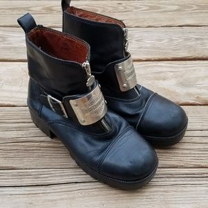 Harley Davidson Black Leather Motorcyle Boots